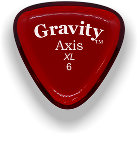 Axis XL 6.0mm Red Acrylic Guitar Pick Handmade Custom Best Acoustic Mandolin Electric Ukulele Bass Plectrum Bright Loud Faster Speed