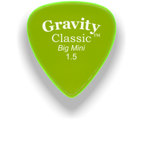 Load image into Gallery viewer, Classic Big Mini 1.5mm Fluorescent Green Polished Bevels Guitar Pick