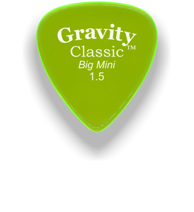 Classic Big Mini 1.5mm Fluorescent Green Polished Bevels Guitar Pick