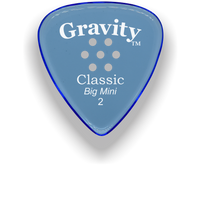 Load image into Gallery viewer, Classic Big Mini 2mm Blue Multi Hole Grip Polished Bevels Guitar Pick