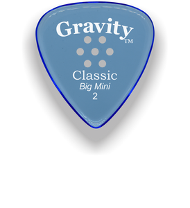 Classic Big Mini 2mm Blue Multi Hole Grip Guitar Pick