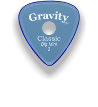 Load image into Gallery viewer, Classic Big Mini 2mm Blue Single Round Grip Hole Polished Bevels Guitar Pick