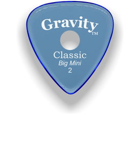 Classic Big Mini 2mm Blue Single Round Grip Hole Guitar Pick