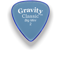 Load image into Gallery viewer, Classic Big Mini 2mm Blue Polished Bevels Guitar Pick