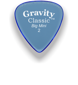 Classic Big Mini 2mm Blue Polished Bevels Guitar Pick