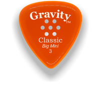 Load image into Gallery viewer, Classic Big Mini 3mm Orange Multi Hole Grip Polished Bevels Guitar Pick