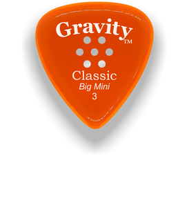 Classic Big Mini 3mm Orange Multi Hole Grip Polished Bevels Guitar Pick