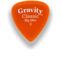Load image into Gallery viewer, Classic Big Mini 3mm Orange Polished Bevels Guitar Pick