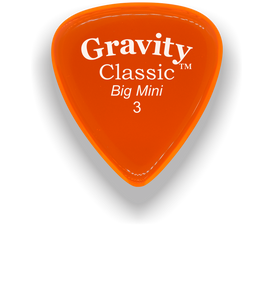 Classic Big Mini 3mm Orange Polished Bevels Guitar Pick