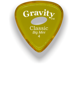 Classic Big Mini 4mm Yellow Elipse Grip Hole Guitar Pick