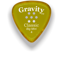 Load image into Gallery viewer, Classic Big Mini 4mm Yellow Multi Hole Grip Polished Bevels Guitar Pick