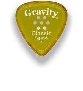 Classic Big Mini 4mm Yellow Multi Hole Grip Guitar Pick