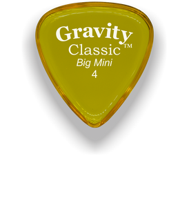 Classic Big Mini 4mm Yellow Polished Bevels Guitar Pick