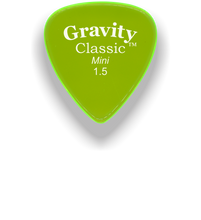 Load image into Gallery viewer, Classic Mini 1.5mm Fluorescent Green Polished Bevels Guitar Pick