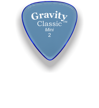 Load image into Gallery viewer, Classic Mini 2mm Blue Polished Bevels Guitar Pick