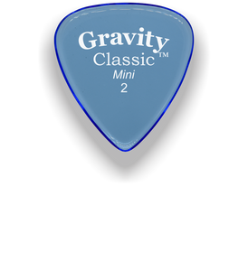 Classic Mini 2mm Blue Polished Bevels Guitar Pick