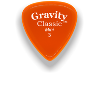Load image into Gallery viewer, Classic Mini 3mm Orange Polished Bevels Guitar Pick