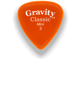 Classic Mini 3mm Orange Polished Bevels Guitar Pick