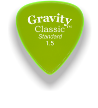 Load image into Gallery viewer, Classic Standard 1.5mm Fluorescent Green Polished Bevels Guitar Pick