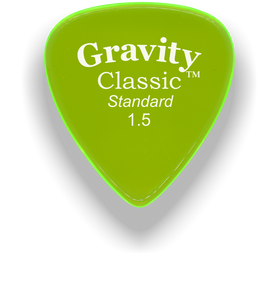 Classic Standard 1.5mm Fluorescent Green Polished Bevels Guitar Pick