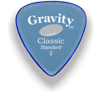 Load image into Gallery viewer, Classic Standard 2mm Blue Elipse Grip Hole Polished Bevels Guitar Pick