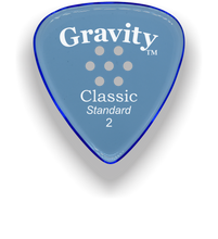 Load image into Gallery viewer, Classic Standard 2mm Blue Multi Hole Grip Polished Bevels Guitar Pick