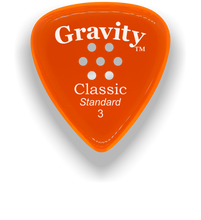 Load image into Gallery viewer, Classic Standard 3mm Orange Multi Hole Grip Polished Bevels Guitar Pick