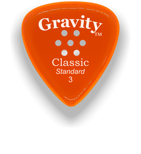 Classic Standard 3mm Orange Multi Hole Grip Polished Bevels Guitar Pick