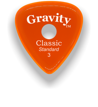 Load image into Gallery viewer, Classic Standard 3mm Orange Single Round Grip Hole Polished Bevels Guitar Pick