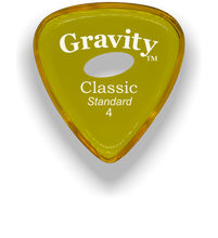 Load image into Gallery viewer, Classic Standard 4mm Yellow Elipse Grip Hole Polished Bevels Guitar Pick