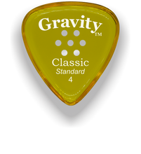 Load image into Gallery viewer, Classic Standard 4mm Yellow Multi Hole Grip Polished Bevels Guitar Pick