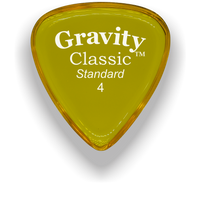 Load image into Gallery viewer, Classic Standard 4mm Yellow Polished Bevels Guitar Pick