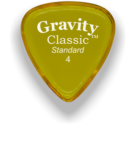 Classic Standard 4mm Yellow Polished Bevels Guitar Pick