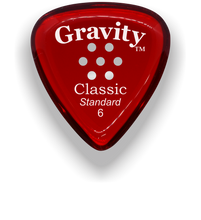 Load image into Gallery viewer, Classic Standard 6mm Red Multi Hole Grip Polished Bevels Guitar Pick