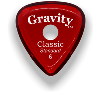 Load image into Gallery viewer, Classic Standard 6mm Red Single Round Grip Hole Polished Bevels Guitar Pick