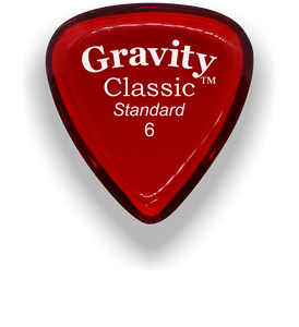 Classic Standard 6mm Red Polished Bevels Guitar Pick