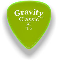 Load image into Gallery viewer, Classic XL 1.5mm Fluorescent Green Polished Bevels Guitar Pick