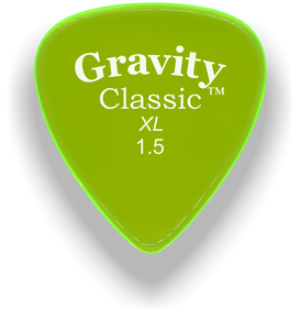 Classic XL 1.5mm Fluorescent Green Polished Bevels Guitar Pick