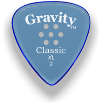 Load image into Gallery viewer, Classic XL 2mm Blue Multi Hole Grip Polished Bevels Guitar Pick