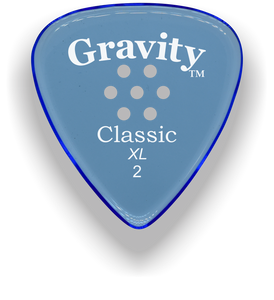 Classic XL 2mm Blue Multi Hole Grip Polished Bevels Guitar Pick