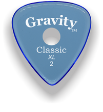 Load image into Gallery viewer, Classic XL 2mm Blue Single Round Grip Hole Polished Bevels Guitar Pick