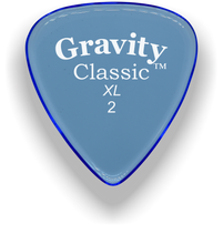 Load image into Gallery viewer, Classic XL 2mm Blue Polished Bevels Guitar Pick