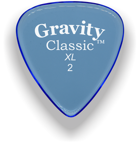 Classic XL 2mm Blue Polished Bevels Guitar Pick