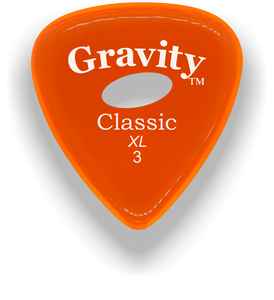 Classic XL 3mm Orange Elipse Grip Hole Guitar Pick