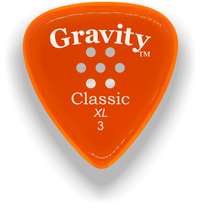 Load image into Gallery viewer, Classic XL 3mm Orange Multi Hole Grip Polished Bevels Guitar Pick