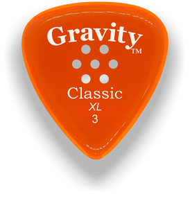 Classic XL 3mm Orange Multi Hole Grip Polished Bevels Guitar Pick