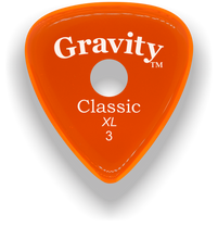 Load image into Gallery viewer, Classic XL 3mm Orange Single Round Grip Hole Polished Bevels Guitar Pick