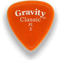 Load image into Gallery viewer, Classic XL 3mm Orange Polished Bevels Guitar Pick