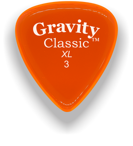Classic XL 3mm Orange Polished Bevels Guitar Pick