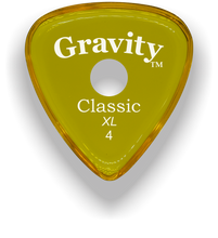 Load image into Gallery viewer, Classic XL 4mm Yellow Single Round Grip Hole Polished Bevels Guitar Pick